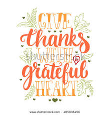 give thanks grateful thanksgiving day stock vector 485836456