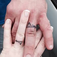 Harry Potter Wedding Rings by 40 Sweet U0026 Meaningful Wedding Ring Tattoos
