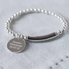 baptism charm bracelet modern sterling silver 925 christening bracelet by oh so cherished