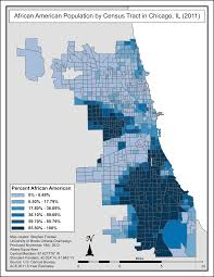 University Of Chicago Map by File African American Population By Census Tract In Chicago Il
