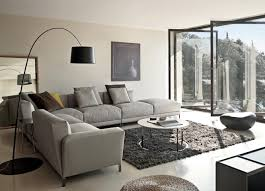 Living Room With Grey Walls by Grey Living Room Decor Glass Windows Hite Marble Floor Grey Wall
