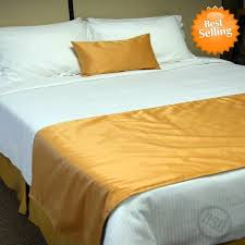 bed runners hotel self lined bed runners scarfs 100 micro polyester suede
