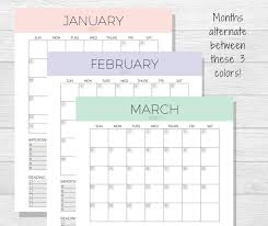 monthly calendar planner template 2017 monthly planner printable monthly calendar organizer zoom