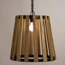 world market pendant light wood slat pendant l world market