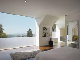 large and plain glass windows for chic modern house modern