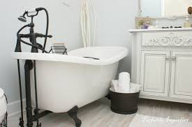 small clawfoot tub exquisite bathroom interior decoration with