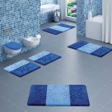 Modern Bathroom Rugs Cool Bath Rugs For Modern Bathroom Design With Blue Color Schemes