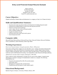 resume summary statement examples entry level resume for your