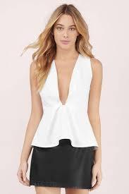 peplum tops womens clothes