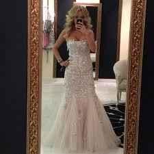 bling wedding dresses beautiful bling wedding dresses or mermaid strapless wedding dress
