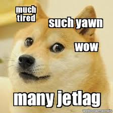 Jet Lag Meme - doge such yawn much tired wow many jetlag weknowmemes