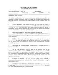 a template for a hair salon booth rental agreement between a