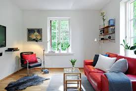 white sofa in small living room for sleek look furniture
