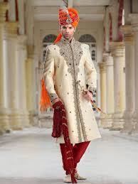 home design rajasthani style rajasthani style groom sherwani beige maroon jamawar