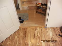 Laminate Flooring Transition Pieces Laminate Flooring Transition To Tile Crowdbuild For