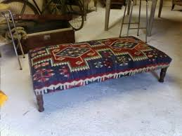 coffee table handmade turkish rectangular shape kilim ottoman with