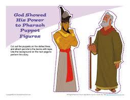 moses confronted pharaoh puppets ot moses desert pinterest