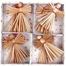 straw ornaments straw paper tree ornaments