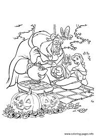 beauty beast disney halloween coloring pages printable
