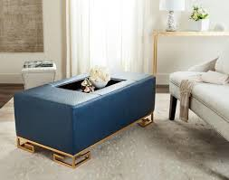 Navy Ottoman Safavieh Julian Faux Ostrich Tray Ottoman Coffee Table Navy With