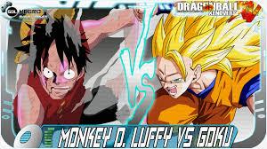 monkey d luffy gear second vs goku super saiyan 3 dragon ball