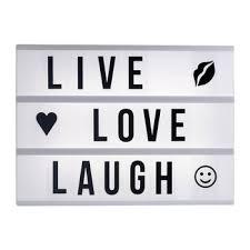 live love laugh live love laugh a4 lightbox cinematic light box letter pack battery
