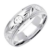 christian wedding bands 14k white gold christian religious band 7mm 3003006 shop at