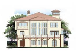 house plans with rear view villa royale luxury home plans tuscan house plans