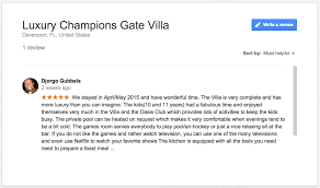 luxury champions gate villa testimonials u0026 reviews