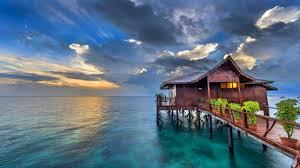 bungalow on tropical beach 2560x1440 wallpaper favorite pic