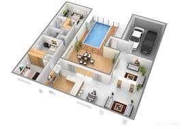 rectangular home plans cool 3d rectangular house floor plan come with modern house