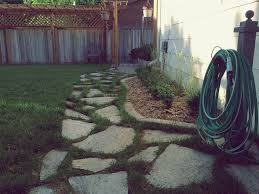 Laying Patio Slabs On Grass How To Lay A Flagstone Pathway In An Existing Lawn