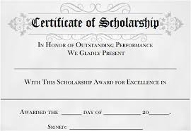 When Do College Award Letters Come Out 9 Scholarship Certificate Templates Free Word Pdf Format
