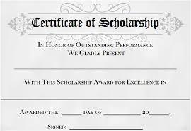 9 scholarship certificate templates u2013 free word pdf format