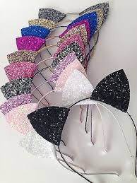glitter headbands glitter cat ears headband glitter headband christmas headband