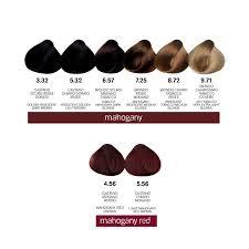 mahogany hair color chart hair colour