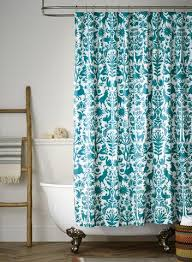 Turquoise Shower Curtain Otomi Turquoise Shower Curtain Hygge U0026 West