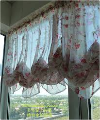 How To Make Balloon Shade Curtains Roses Ruffle Adjustable Balloon Shade Curtain 34 99