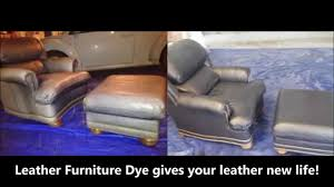 Blue Leather Chair Leather Furniture Dye Restoration Of Blue Leather Chair Youtube
