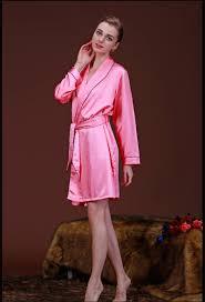robe de chambre en satin peignoir en satin femme peignoir de chambre couleur unie