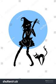 halloween background posters for free royalty free vector black silhouette of witch u2026 483506665 stock