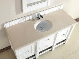 abstron 60 inch white single sink bathroom vanity optional countertops