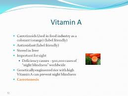 Vitamin A Deficiency Causes Night Blindness Presentation 1 The Nature Of Vitamins Vitamins Are Organic