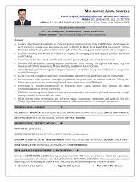 Oil Field Resume Samples by Ehs Resume Resume Cv Cover Letter