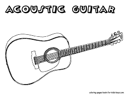 acoustic guitar image coloring coloring pages pinterest