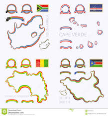 Cabo Verde Map Colors Of South Africa Cape Verde Guinea And South Sudan Stock