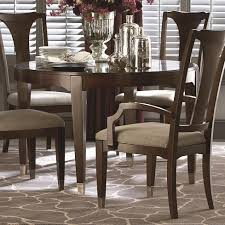 bassett cosmopolitan transitional nine piece dining set with