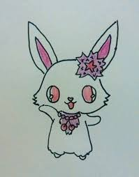 kawaii bunny doodle how to draw an animal drawing art on cut