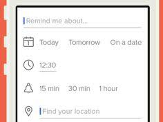 add reminder in android portkit ux metaphor equivalents for ios android ux ui website