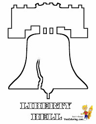liberty bell coloring printable coloring